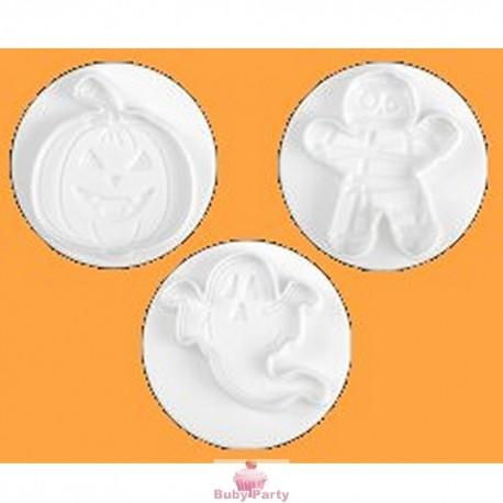 Set 3 Stampi Ad Espulsione Soggetti Halloween Pavoni