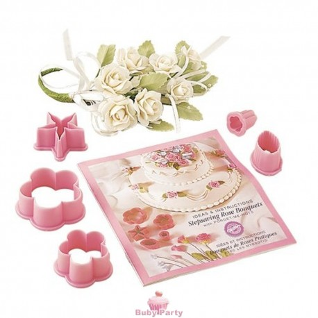 Kit Crea Rose In Pasta Di Gomma Wilton