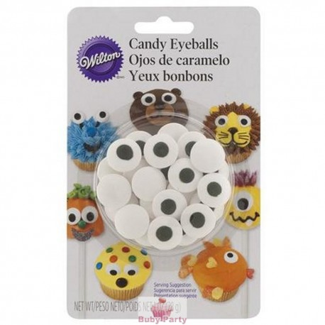 Occhietti in zucchero per decorare biscotti e lolli cake 62 pz