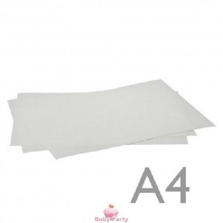 Foglio di ostia bianca ultra liscia A4 2 pz