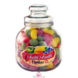 Caramelle Tutti Frutti In Barattolo Di Vetro 966g Papillon