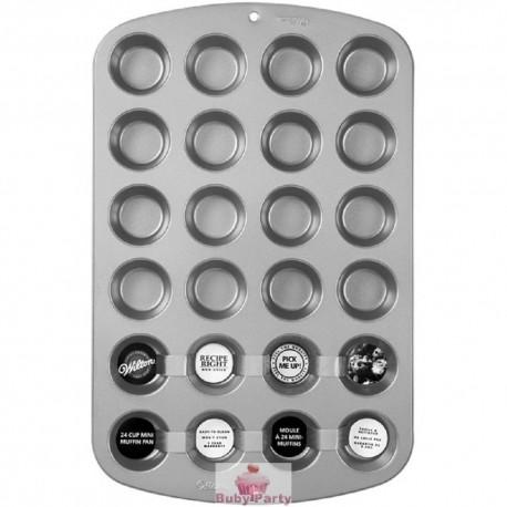Stampo per muffin in alluminio della Wilton 24 cavità
