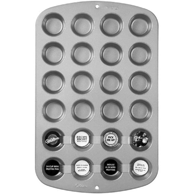 Stampo Mini Muffin In Alluminio 24 Cavità Wilton
