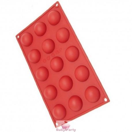 Stampo in silicone platinico mezze sfere Pavoni