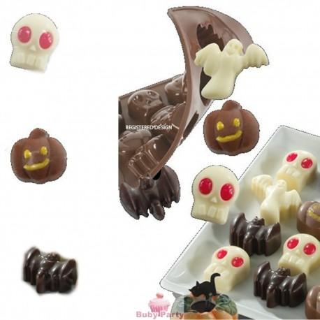 Stampo silicone per cioccolatini di Halloween