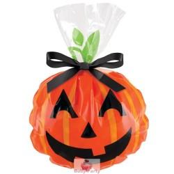 12 Sacchetti Porta Dolcetti Di Halloween Con Zucca Sorridente Wilton