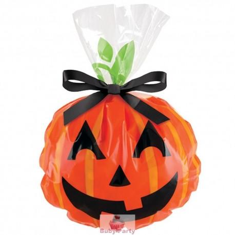12 sacchetti porta dolcetti di halloween con zucca for Zucca halloween luminosa