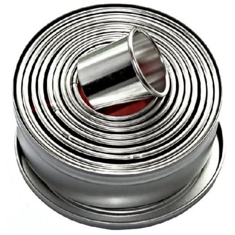 Set 9 Coppapasta In Metallo Cerchi Lisci Pavoni