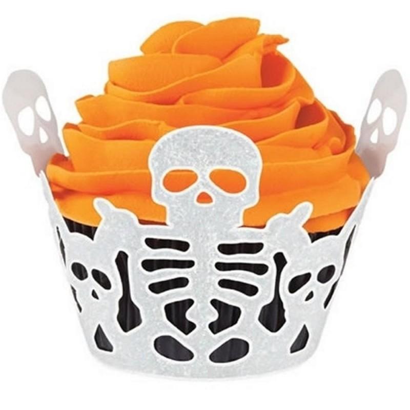 18 Avvolgi Muffin Scheletro Halloween Wilton