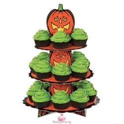 Alzatina Halloween in cartone 3 piani per muffin e cupcake Wilton