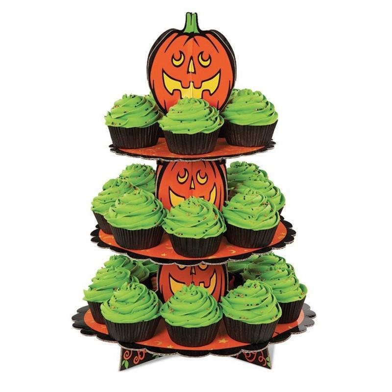 Alzatina Halloween In Cartone A 3 Piani Per Muffin E Cupcake Wilton