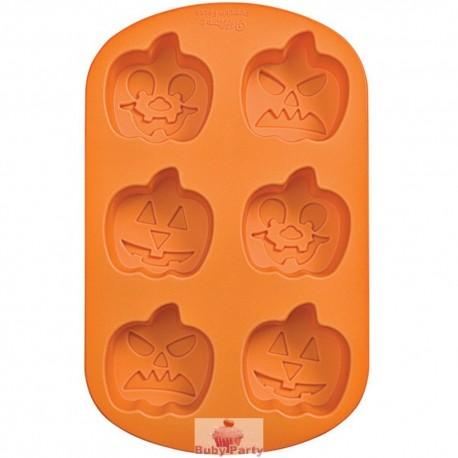 Stampo in silicone Jack o lanterns Halloween 6 cavità Wilton