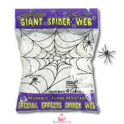 Ragnatela con ragni allestimento Halloween 56 gr