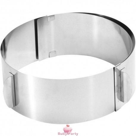 Anello in acciaio da pasticceria regolabile da 16 a 32 cm