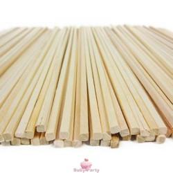 50 Bastoncini In Legno Per Zucchero Filato