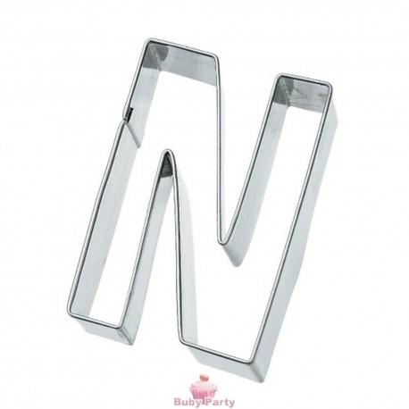 Tagliapasta lettera N in metallo 6 cm Birkmann