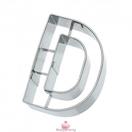 Tagliapasta lettera D in metallo 6 cm Birkmann