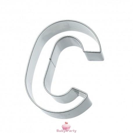 Tagliapasta lettera C in metallo 6 cm Birkmann