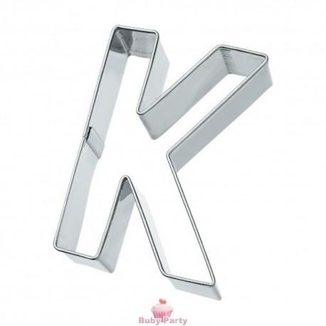Tagliapasta lettera K in metallo 6 cm Birkmann
