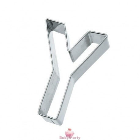 Tagliapasta lettera Y in metallo 6 cm Birkmann