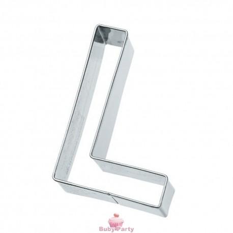 Tagliapasta lettera L in metallo 6 cm Birkmann