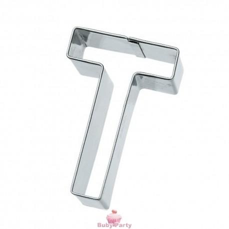 Tagliapasta lettera T in metallo 6 cm Birkmann