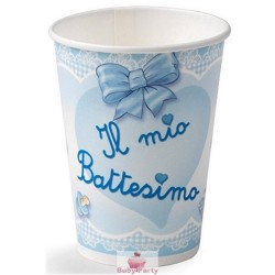 10 Bicchieri il Mio Battesimo Celeste Magic Party