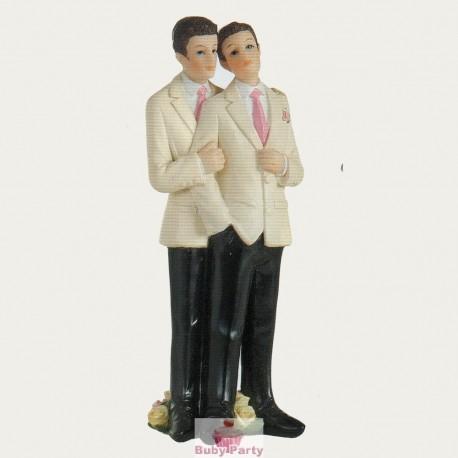 Topper Cake Matrimonio Coppia Gay Lui Ambra's