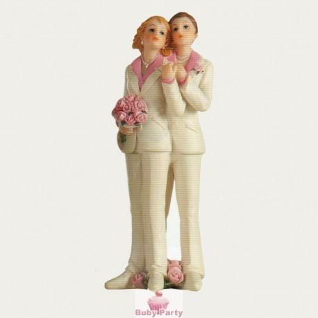 Topper Cake Matrimonio Coppia Gay Lei Ambra's