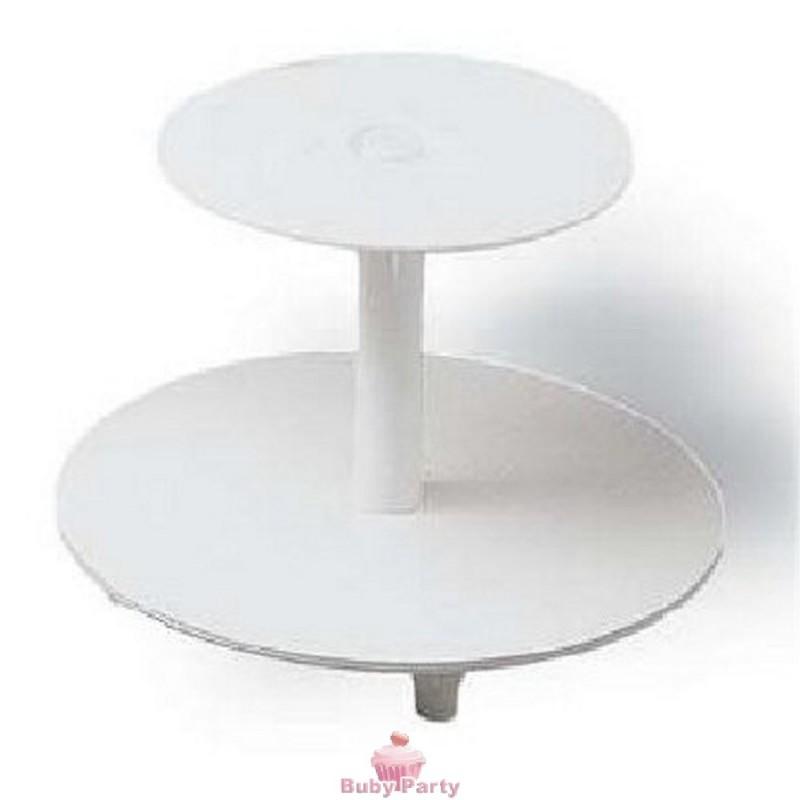 Alzata 2 Piani Per Torte Cupcake Muffin E Cascate Di ...