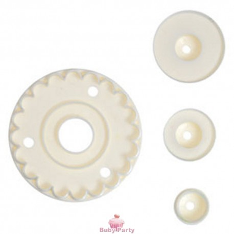 Set merletto per glassa fondente Modecor 4 pz