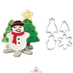 Set 4 Tagliapasta Christmas Wilton