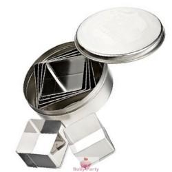 Set coppapasta in metallo quadrati lisci Pavoni 6 pz