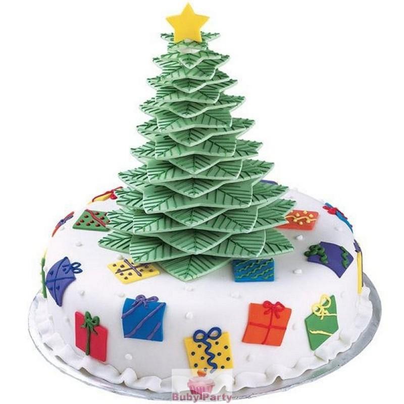Biscotti Albero Di Natale 3d.Kit 10 Tagliapasta Per Albero Di Natale 3d Wilton Buby Party Store