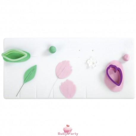 Piano Di Lavoro Per Fiori In Pasta Di Gomma 40x18 cm Decora