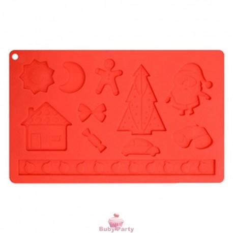 Stampo in silicone natalizio mix 11 impronte Modecor