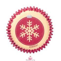 Pirottini bon bon fiocco di neve 100 pz Wilton
