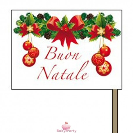 Bandierine Buon Natale per aperitivo 50 pz