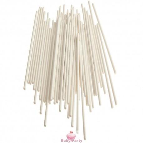 Bastoncini bianchi per zucchero filato