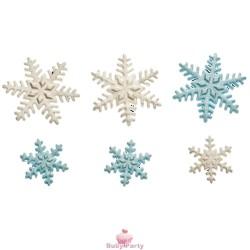 Cristalli di neve in zucchero 6 pz Decora