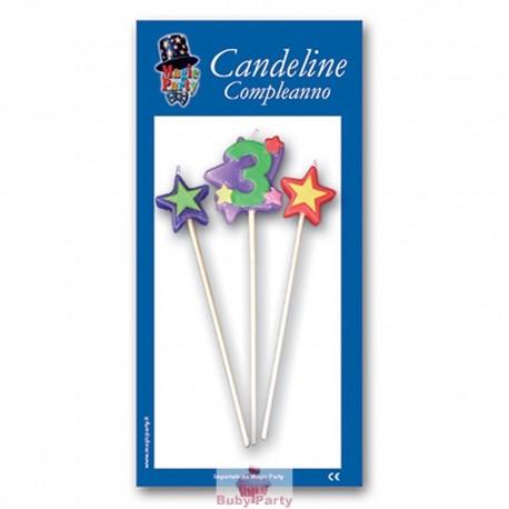 Candeline numero multicolor Magic Party