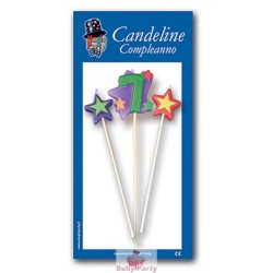 Candeline Numero 7 Multicolore Magic Party