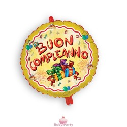 Palloncino Mylar Buon Compleanno cm 45 Magic Party