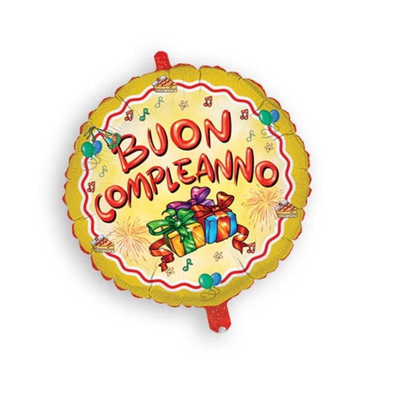 Palloncino Mylar Buon Compleanno cm 45 Magic Party