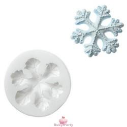 Stampo In Silicone Fiocco Di Neve Per Pasta Di Zucchero Silikomart