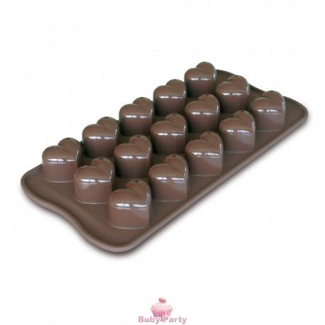 Stampo In Silicone Per Cioccolatini A Cuore Monamour Silikomart