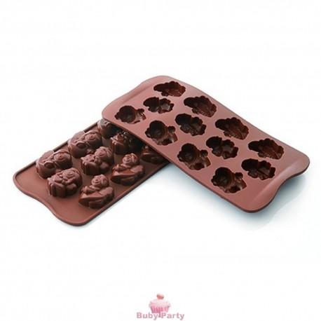 Stampo in silicone angeli per cioccolatini Silikomart