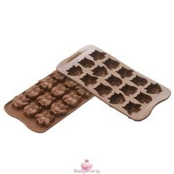 Stampo In Silicone Gufi In Cioccolato Silikomart