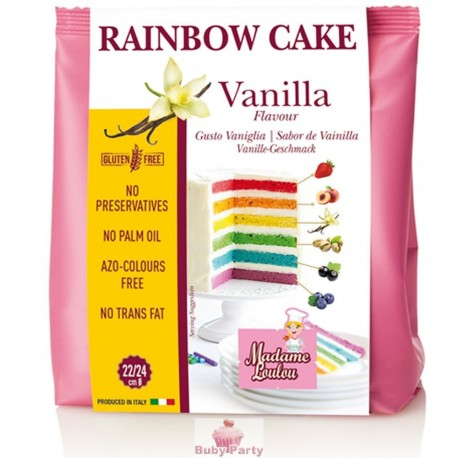Preparato Rainbow Cake vaniglia 100 gr Madame Loulou