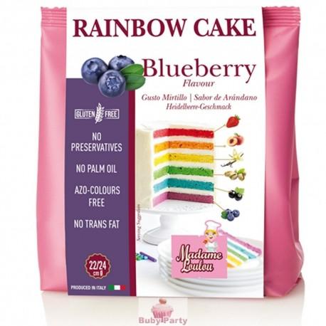 Preparato Rainbow Cake mirtillo 100 gr Madame Loulou